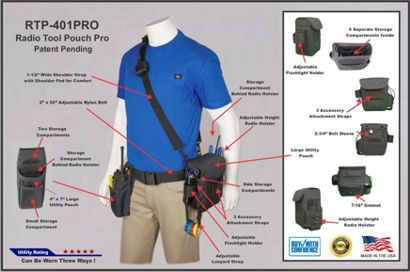 RTP 401P Info Sheet Sm Web Shot holsterguy, radio, chest, shoulder, harness, harnesses, holsters